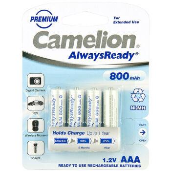Camelion 飞狮 AlwaysReady 7号镍氢充电电池 800mAh 4节装