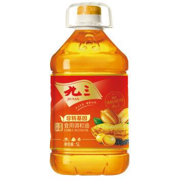 【京东超市】九三非转基因 食用油  食用植物调和油(花生、芝麻) 5L