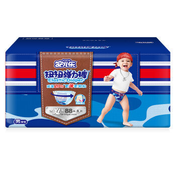 Anerle 安儿乐 纸尿裤 男婴扭扭弹力裤 XL96片 *3件