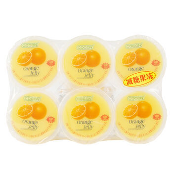 COCON 可康 甜橙味减糖果冻(果味型)480克(80克X6杯)