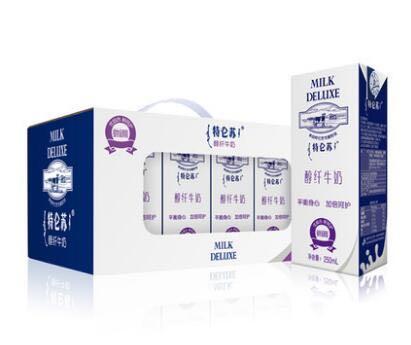 【天猫超市】蒙牛特仑苏醇纤牛奶250ml*12盒平衡好搭档轻松又健康