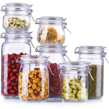 喜碧(Scybe)多功能加厚玻璃密封罐 储藏瓶 7件套