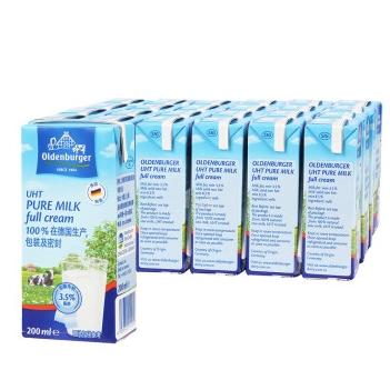 OLDENBURGER 欧德堡 超高温灭菌全脂牛奶 200ml*24盒