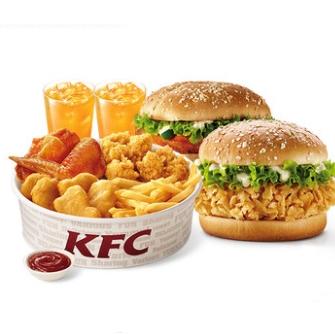 KFC 肯德基 WOW双堡套餐