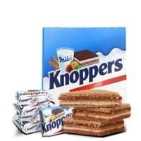 临期品、至8月、限华北:Knoppers 牛奶榛子巧克力威化饼干600g (25g*24包)