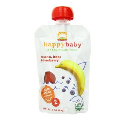 Happy Baby 禧贝 香蕉+甜菜+蓝莓 婴幼儿果泥  2段  99g