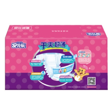 Anerle 安儿乐 干爽超薄 婴儿纸尿裤 XL108片 *4件