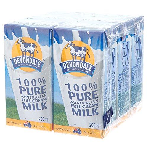 Devondale 德运 全脂纯牛奶 200ml*6