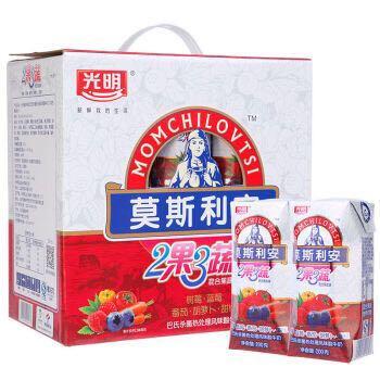 光明 莫斯利安 2果3蔬(红果)常温酸奶200g*12盒钻石装