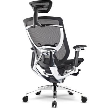 ergoup 笑脸椅 人体工学电脑椅办公椅老板椅同步滑翔电脑椅 人体工程学椅 黑框黑网