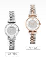 EMPORIO ARMANI 安普里奥•阿玛尼 时尚女士镶钻防水石英腕表
