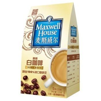 麦斯威尔 速溶白咖啡5条装风味小包装 *2件