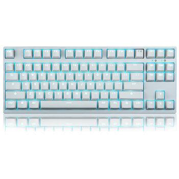 GANSS 高斯 GS87 背机械键盘 87白色黑轴 PBT版