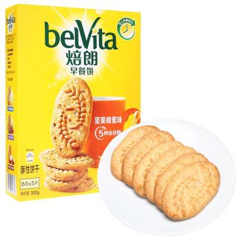 belVita 焙朗 早餐饼 坚果蜂蜜味 6包 300g