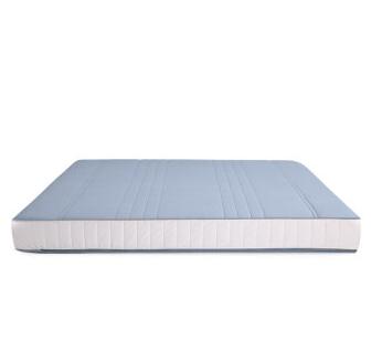 8H床垫 小米生态链乳胶床垫T1 3cm泰国乳胶 七区独立袋装弹簧床垫 全防螨席梦思床垫 素蓝灰 1800*2000