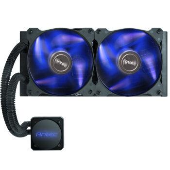 安钛克(Antec)H1200 Pro CPU散热器(多平台支持/一体式水冷散热器/扬程达2.3m/蓝光LED风扇/硅脂)