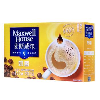 【京东超市】麦斯威尔奶香速溶咖啡30条(390克/盒) *2件