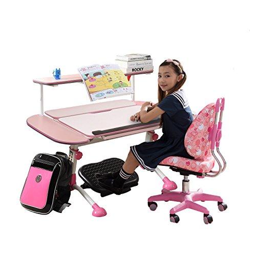 easy life 生活诚品 儿童桌椅套装 MC310+AU209+F041(粉色,送阅读架)