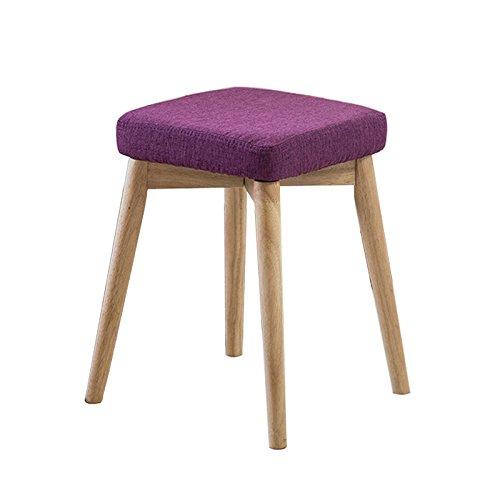 择木宜居 现代简约餐厅餐椅时尚休闲椅家用创意实木椅子凳子 酒红色(供应商直送)