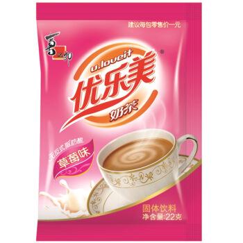 喜之郎 优乐美 u.loveit 草莓味奶茶 22g/包 *2件