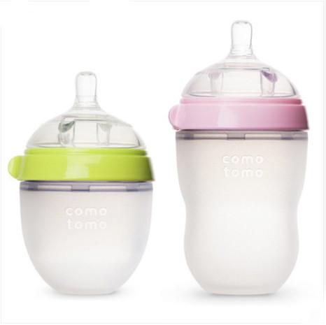 comotomo 可么多么 宽口径婴儿硅胶奶瓶防胀气 250ml+150ml