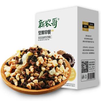【京东超市】新农哥 坚果每日坚果 干果 双层曲奇坚果仁零食混合礼包 30g*7包