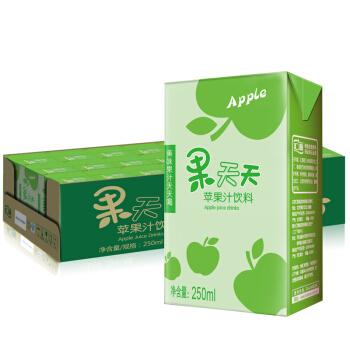 汇源 果汁饮品 果天天苹果汁饮料 250mlx24盒