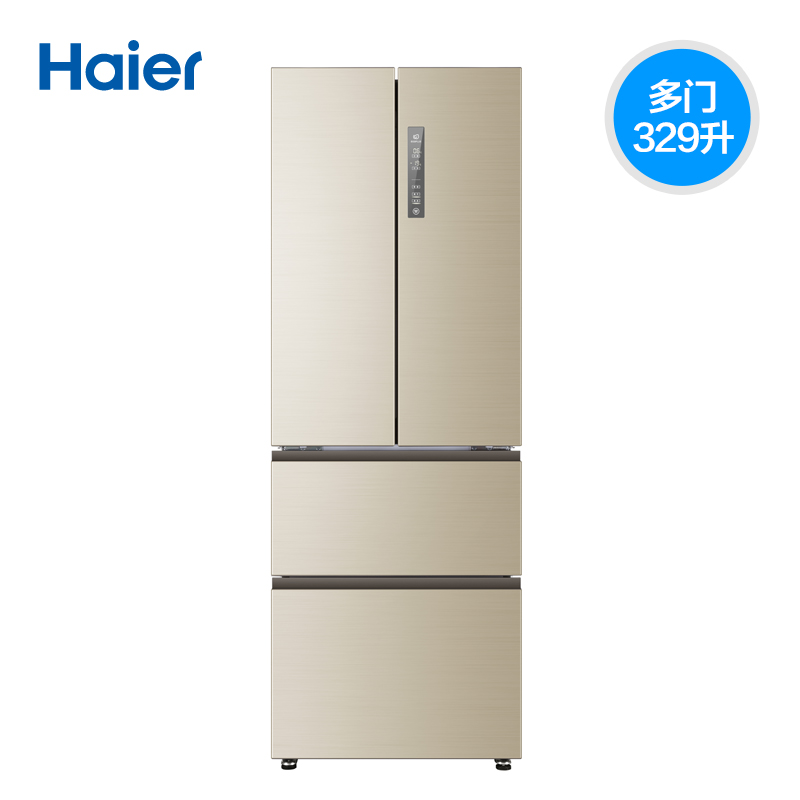Haier/海尔 BCD-329WDVL 法式多门四开冰箱 四门家用无霜一级节能