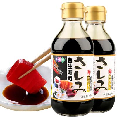 伊例家 寿司海鲜特级酱油200ml*2瓶