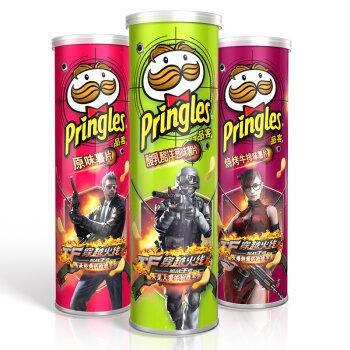 【京东超市】品客(Pringles)薯片110g*3 分享装(原味+洋葱味+烧烤味)(新老包装随机发货)