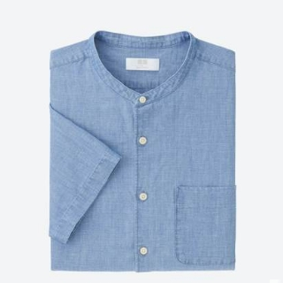 UNIQLO 优衣库 195797 男士立领短袖衬衫