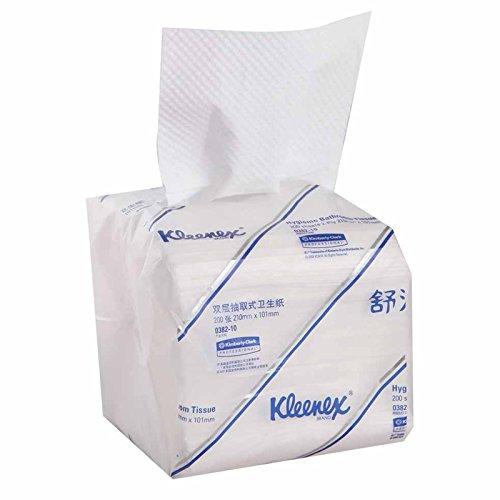 kleenex舒洁 双层抽取式卫生纸200张/包 60包/箱