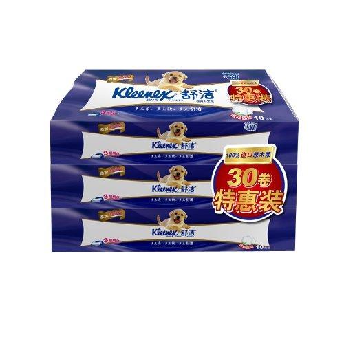 Kleenex 舒洁   卷纸 特惠装3层210节 30粒装