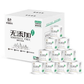 【京东超市】幸福阳光(sunelements)卷纸 无添加食品级认证3层*180G*27卷(整箱销售)新老包装随机发货