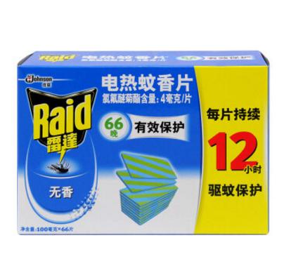 Raid 雷达蚊香 电热蚊香片 优惠装 66片 无香型