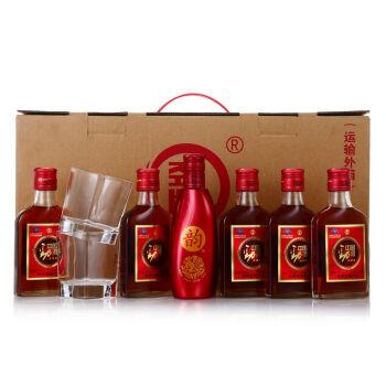【京东超市】劲牌 中国劲酒 35度 125ml*5瓶+韵酒 14度 150ml*1瓶 礼盒装(内含2支方杯)