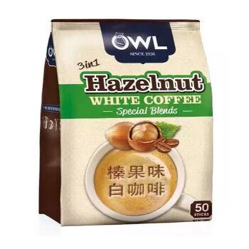 【京东超市】越南进口OWL猫头鹰拉白咖啡榛果20克*50条量贩装1KG(韩国款)