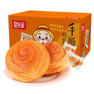 【苏宁超市】爱乡亲 手撕面包 800g *2件