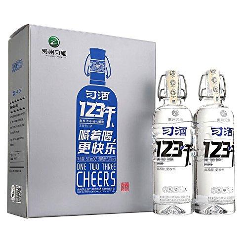 习酒 52° 123干 500ml*2 白酒简约礼盒装