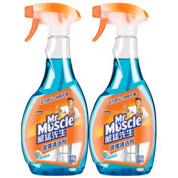 【京东超市】威猛先生玻璃清洁剂双包装500g*2 玻璃水 不留水痕 去污防尘