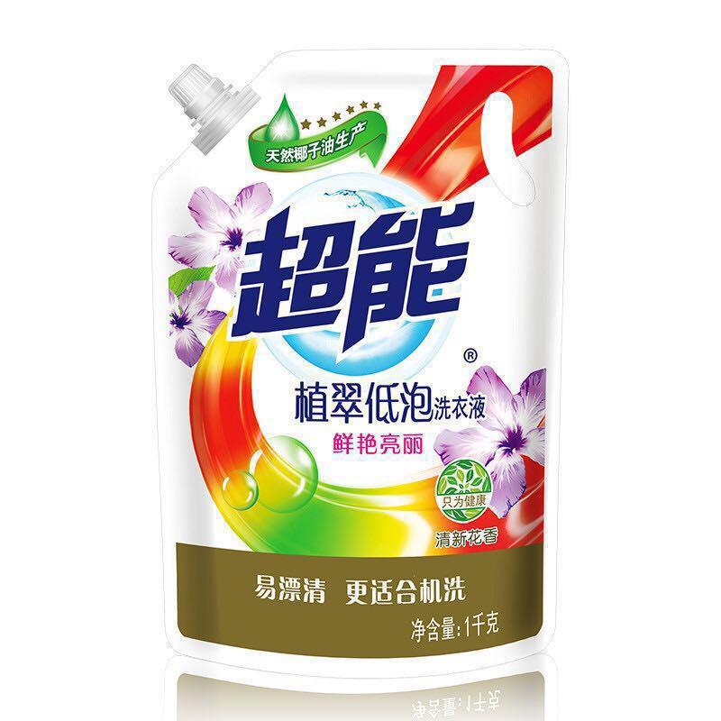 超能 植翠低泡 洗衣液 1kg