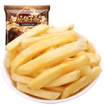 【京东超市】三只松鼠休闲零食膨化食品小吃薯条原味小贱美式薯条75g/袋