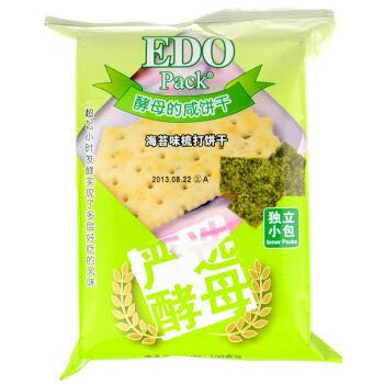 EDO pack 饼干 海苔梳打饼 100g