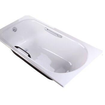 科勒(KOHLER)K-940T-0索尚嵌入式铸铁浴缸1.7米 无扶手孔浴缸