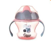 Tommee Tippee 汤美天地 鸭嘴式婴儿学饮杯 粉色款 150ml