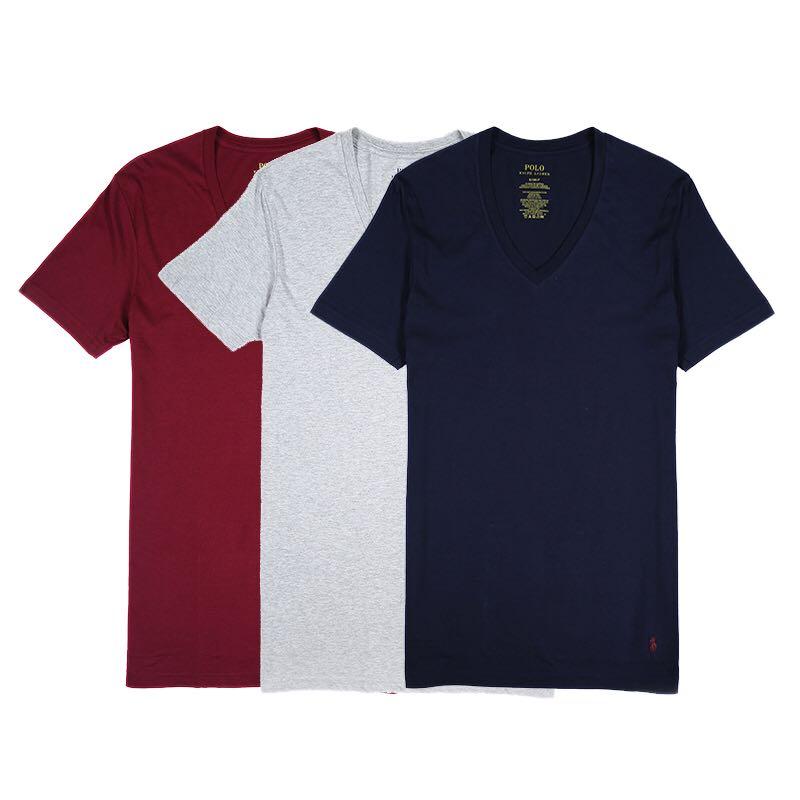 Polo Ralph Lauren V领经典款T恤 3件装