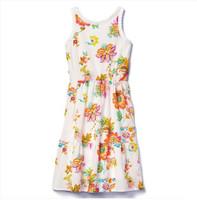 Gap 705288 女童纯棉花卉图案裙子