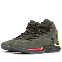 UNDER ARMOUR 安德玛 Curry 1 Lux Mid Suede 男子篮球鞋 *2双