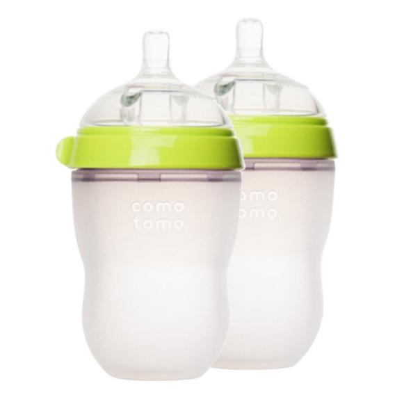 Comotomo 可么多么 奶瓶 绿色 250ml 两只装