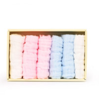 PurCotton 全棉时代 婴儿口水巾 6条*2盒装
